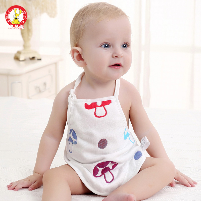 Six layers of cotton gauze newborn baby apron apron child care belly baby mushroom po po belly circumference