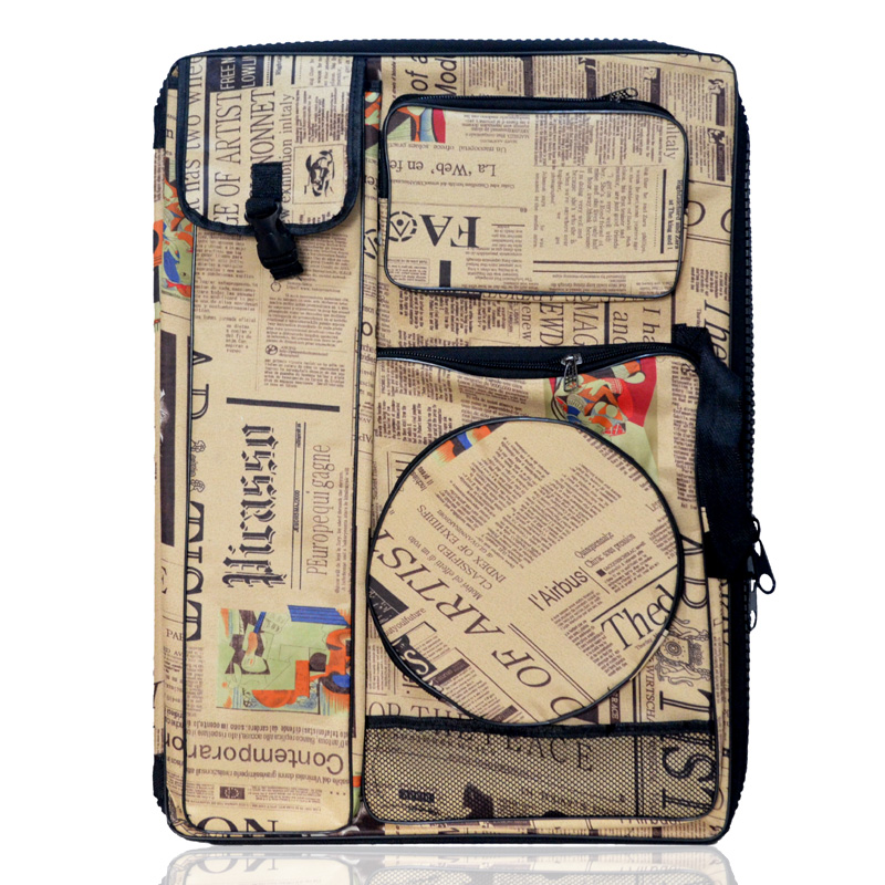 Sketch sketchpad painting kits bag shoulders back '4k' multifunction sketchpad large zipper thick waterproof bag painting art painting bag