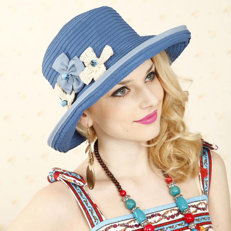 5ae54d996403 Get Quotations · Sky idyllic french soft spring and summer sun hat uv sun  hat sun hat lady fashion