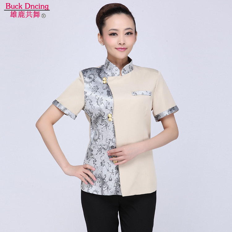 Sleeve summer female hotel cleaning service hotel room cleaning staff uniforms hotel property cleaning uniforms