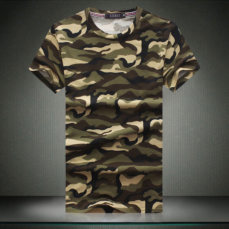 Sleeve summer military camouflage short sleeve t-shirt male taxi fertilizer to increase code on clothes korean slim men tide fat