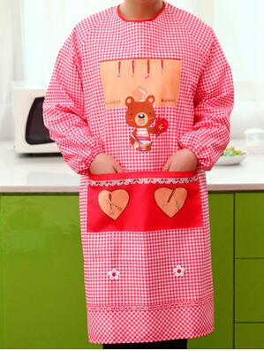 Sleeved aprons kitchen aprons korean fashion cute princess home gardening planting apron