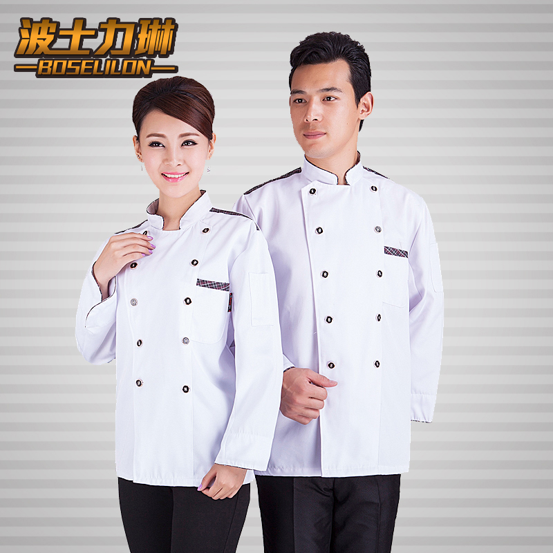 Sleeved hotel chef service hotel chef service hotel chef clothing kitchen chef uniforms sleeved overalls fall and winter clothes