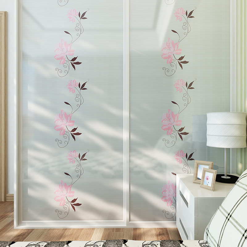 Sliding door wardrobe foil stickers refurbished furniture stickers affixed waterproof pearlescent cabinet sliding door glass door stickers