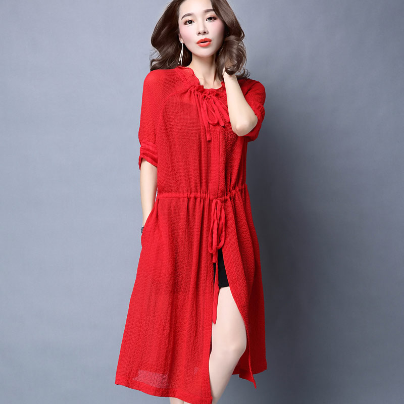 96abd3821d Get Quotations · Slim female summer long section of uv sun protection  clothing beach sun protection clothing outside cardigan
