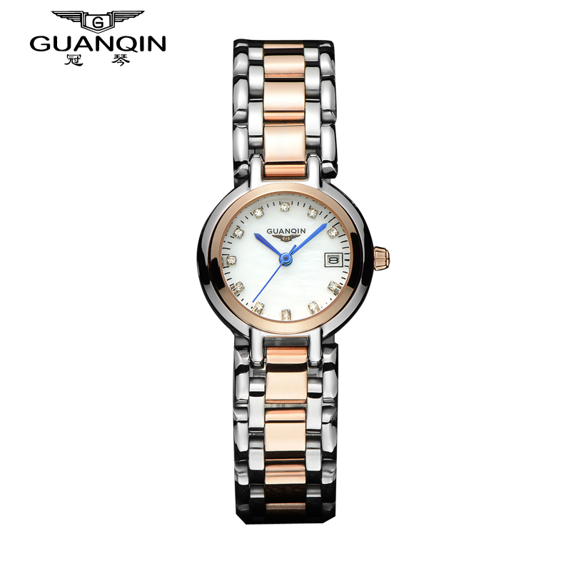 Slim lady quartz watch diamond ladies watch vintage watch crown piano refined steel waterproof watch fashion women