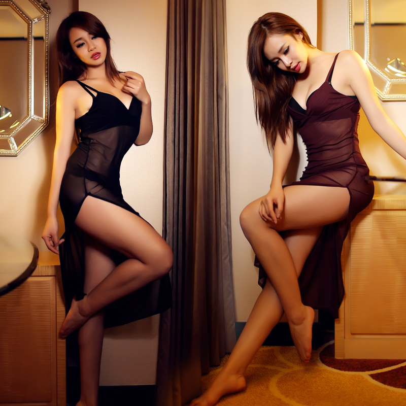 Slim sexy dress sexy suspenders lingerie perspective ms. sexy lingerie pajamas transparent temptation hotties