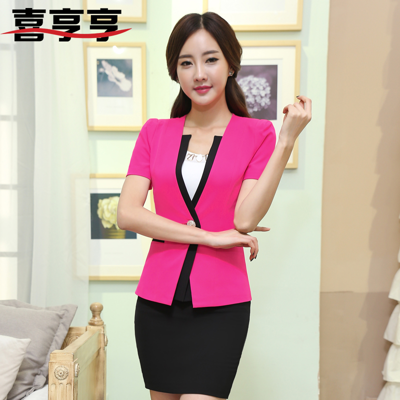 Slim women wear skirt suits spring and autumn ladies dress suits hotel uniforms ol interview