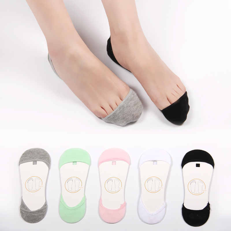 Slip silicone invisible socks boat socks female summer ultra shallow mouth to help low duantong cotton socks shallow mouth thin section socks socks