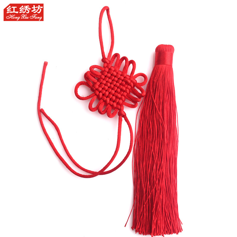 Small chinese knot on 4 line 16 knot semifinished timcal tassel upscale small knot pendant trumpet