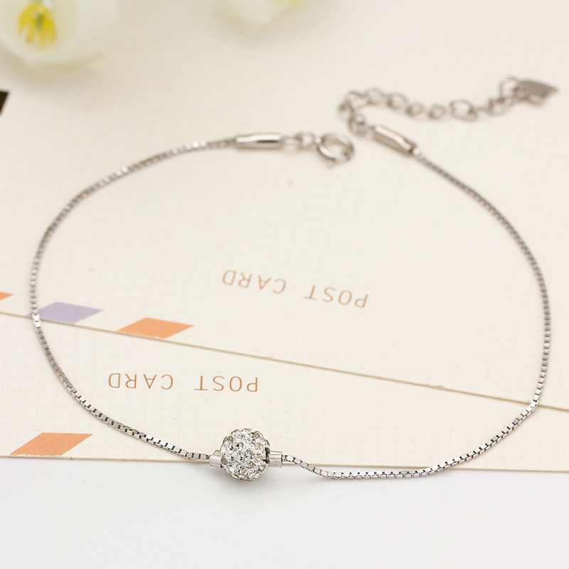 Small green leaves 925 silver anklets female models starry silver bead transporter korean fashion jewelry gift tanabata