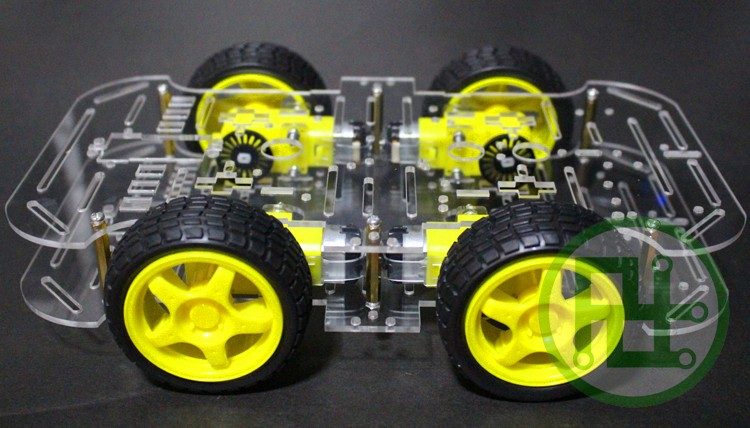 Smart car chassis 4wd car 4 wheel drive car tracking avoidance magnetic car chassis