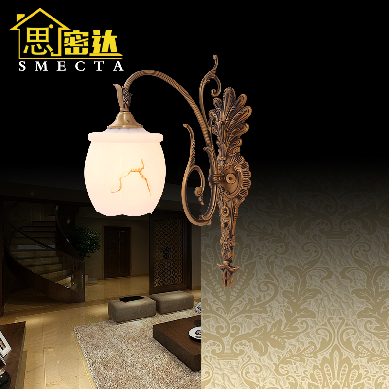 Smecta european copper wall lamp wall lamp bedside lamp european minimalist living room bedroom book BL8008 room wall lamp wall lamp wall lamp wall lamp
