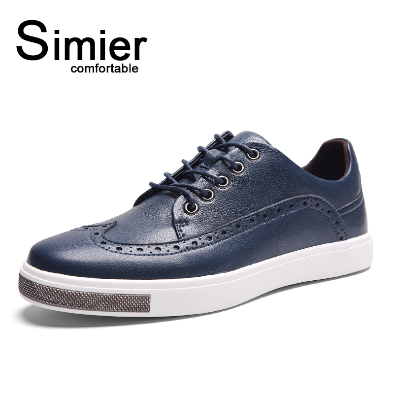 Smil men's brock men's casual young men's fashion trend shoes shoes spring and autumn round lace men shoes