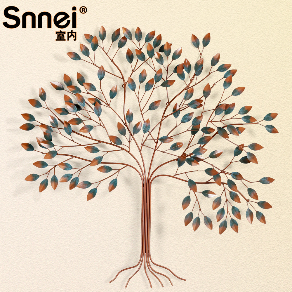 Snnei mediterranean tree vintage wrought iron decorative wall hangings decorative wall creative home soft furnishings