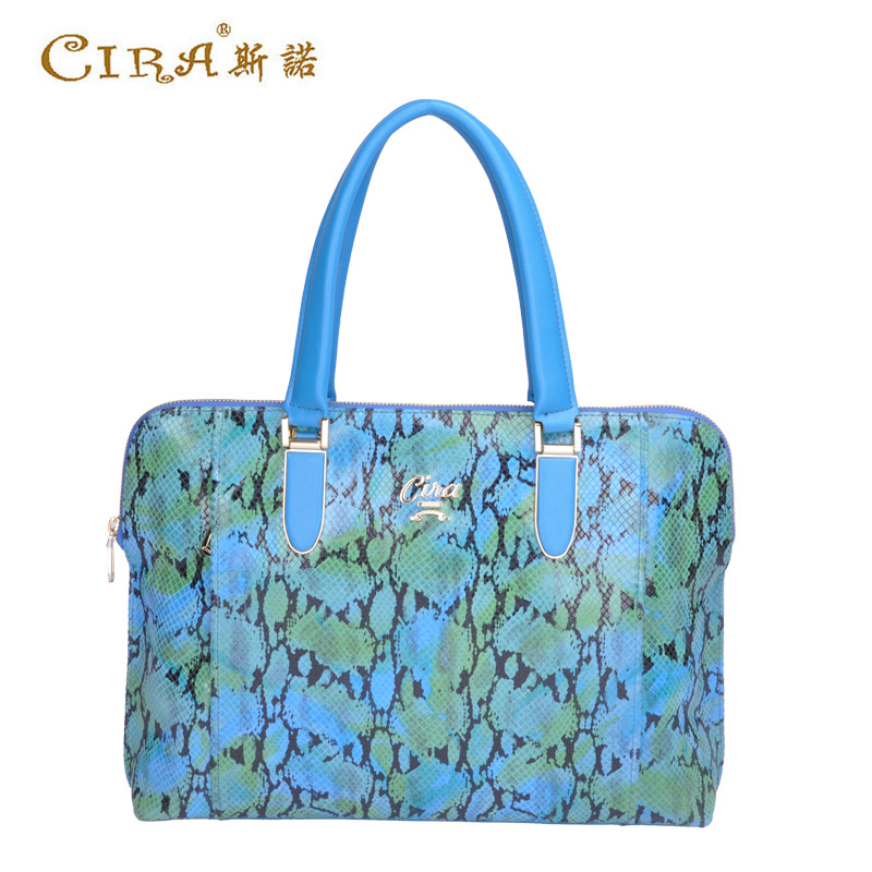 Snow 2015 serpentine tide bag lady handbag european and american fashion casual leather shoulder bag large tote bag