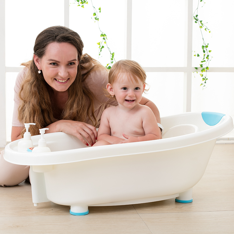 Snow australia baby bathtub baby tub bath tub newborn infant bath tub with a lie board plus large thick bath tray child