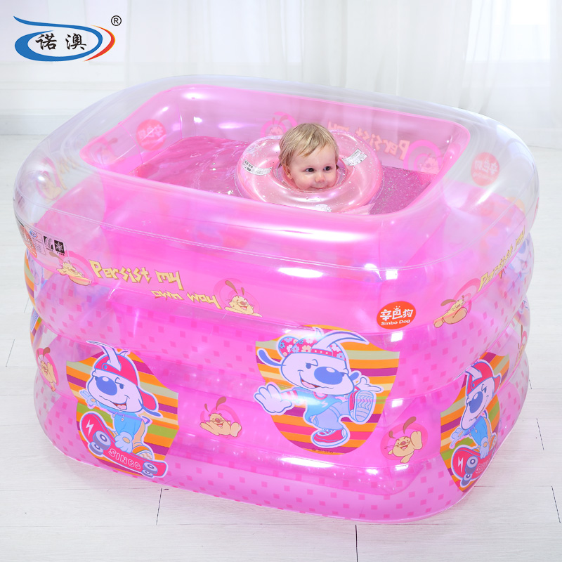 Snow australia inflatable square pink princess baby infants and young children baby swimming pool family swimming bath barrel barrel