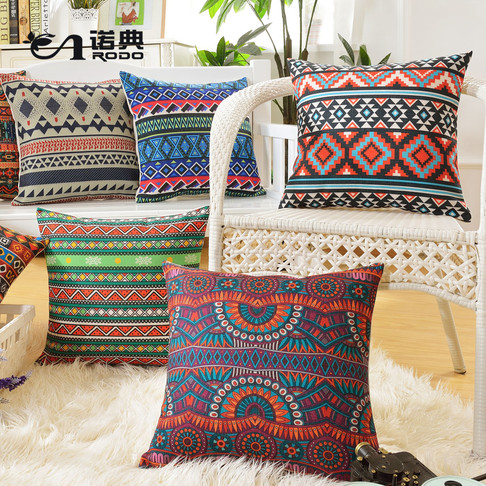 Snow code geometric linen sofa pillow cushion covers office nordic cotton pillow car lumbar pillow core containing backrest