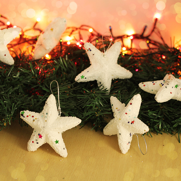 Snow foam plastic foam pentagram pendant christmas ornaments and decorative christmas ornaments snow star