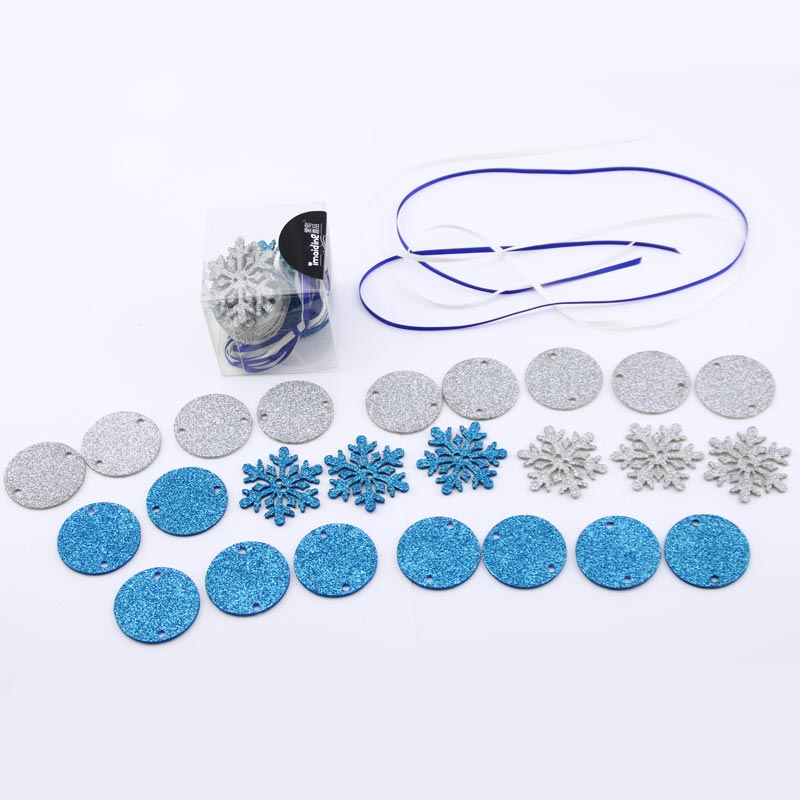 Snow princess crown necklace diy 2 models frozen child birthday party party dress up game