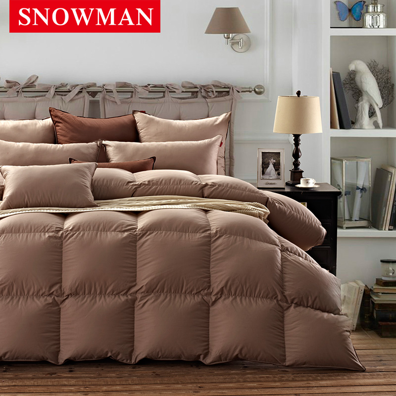 Snowman/adams norman mute thick duvet 95 white goose down duvet cotton satin quilt is the core winter is