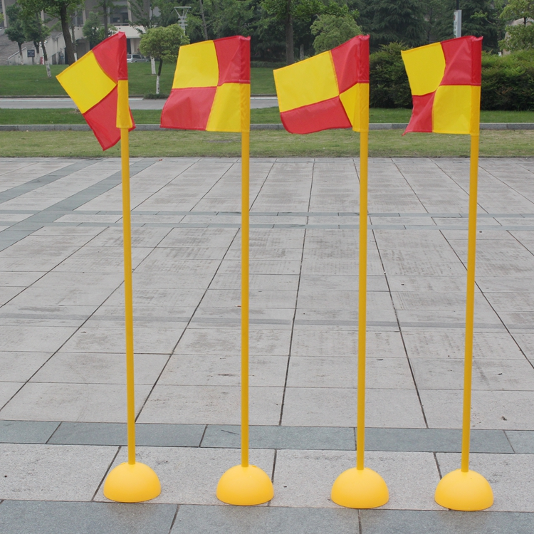 Soccer corner flag flag flag pole flag pole obstacle training obstacle warning lever markers around the pole
