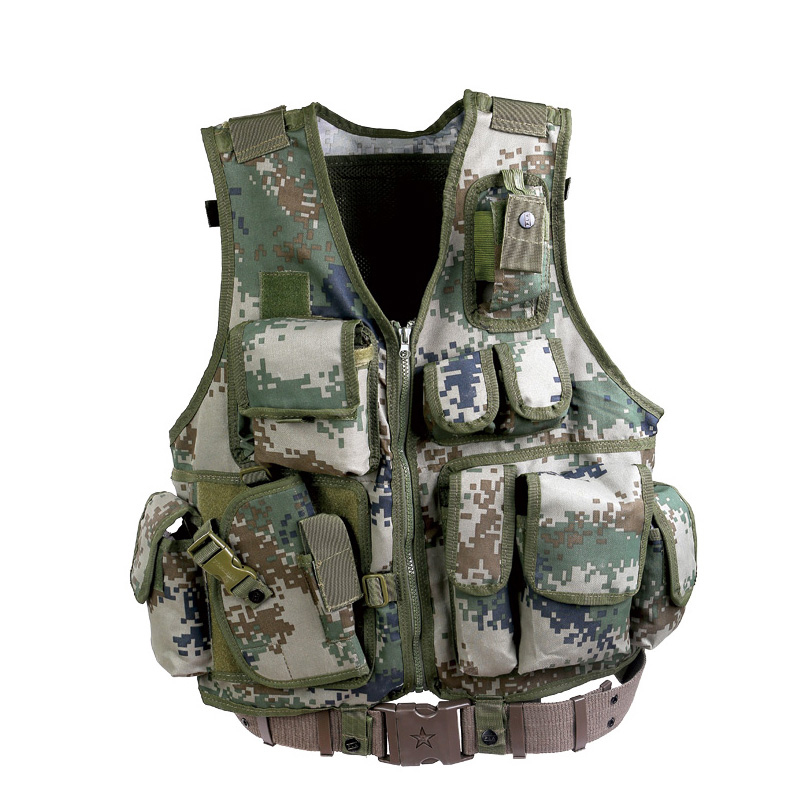 Soldiers army fans outdoor walker 08 neutral breathable vest camouflage vest tactical vest cs field equipment carried