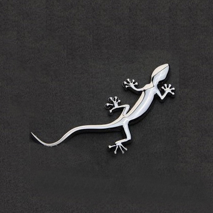 Solid pure metal gecko gecko car xanthoxylum thin personalized car stickers gecko gecko car stickers personalized stickers modification