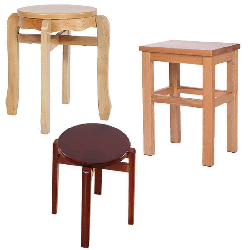 Solid wood stool stool stool stool mazar archaized simple beech stool square stool stool children stool stool changing his shoes stool