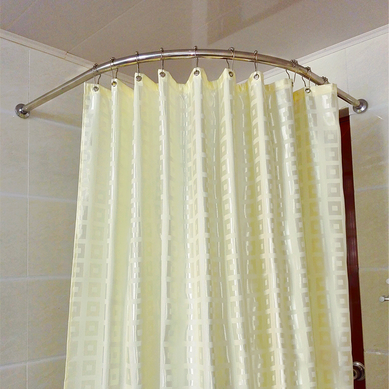 Sonmi toilet bathroom suite 304 l stainless steel shower curtain rod curved shower curtain rod shower curtain + + hanging ring free shipping