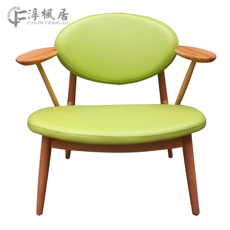 Soon foncalieu habitat wood beech wood chair dinette chair leisure chair coffee chair computer chair desk chair nordic creative fabric