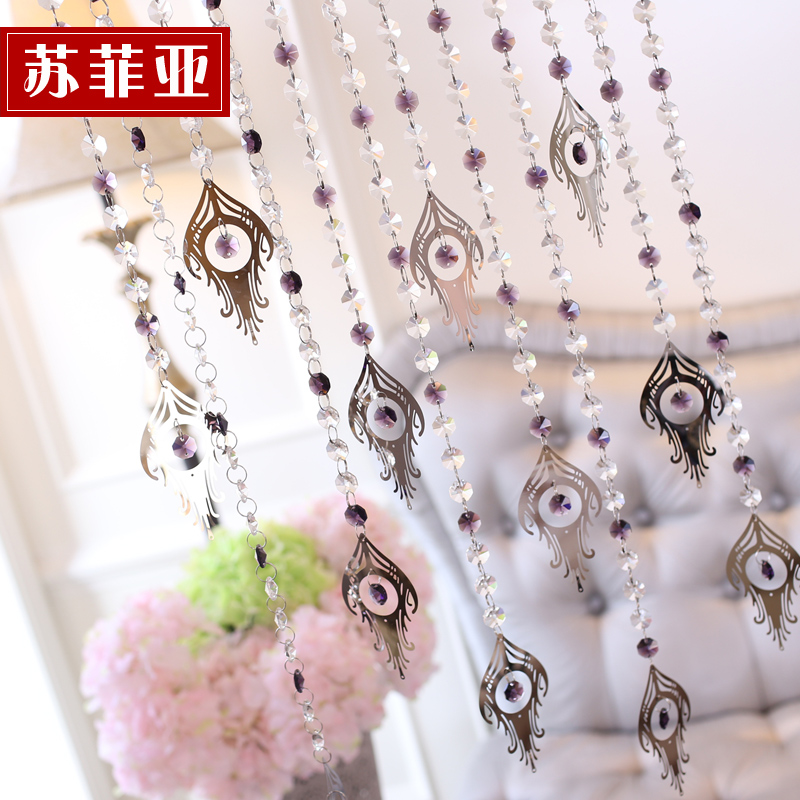 Sophia crystal bead curtain decorative curtain curtain curtain crystal curtain finished off the living room entrance of new models bead curtains pteris