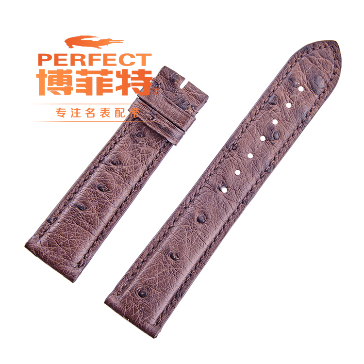 South africa imports of ostrich leather strap 20MM handmade handmade soft leather strap soft vintage wind