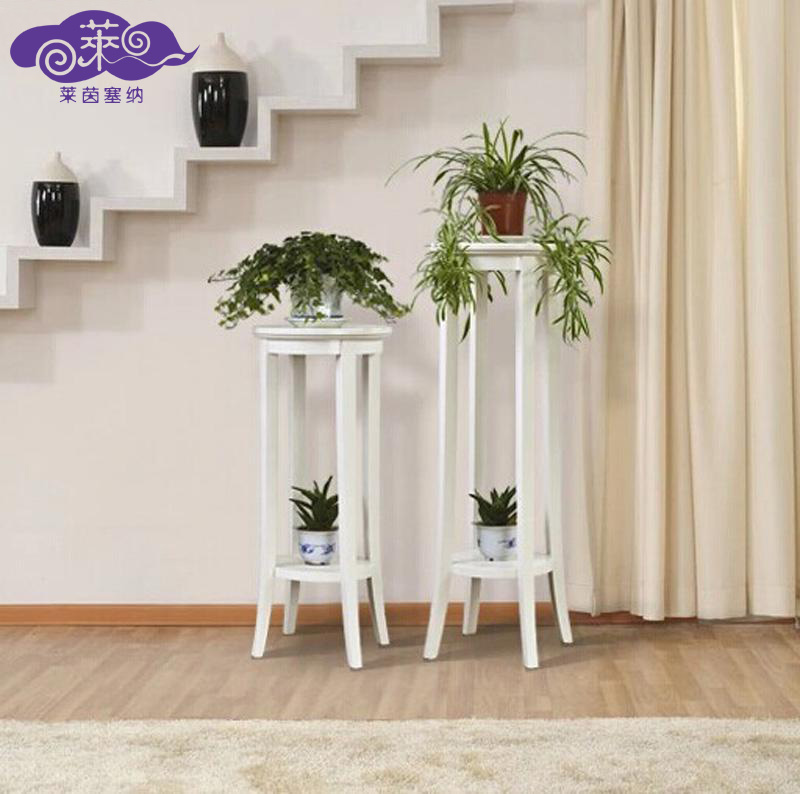 South korea european solid wood floor flower flower flower bed a few mediterranean shelf multilayered wood flower pots shelf