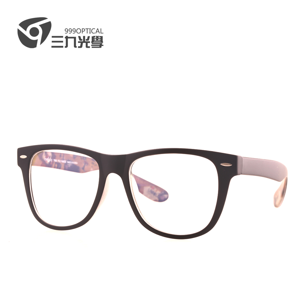 South korea imported black pattern within ultralight big box round glasses frame myopia men and women fashion eye glasses frame