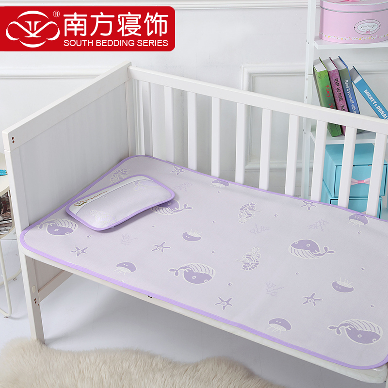 South sleep decorated textile 70 * 120cm marine baby soft mat child seats ice silk three layers thick 2 sets