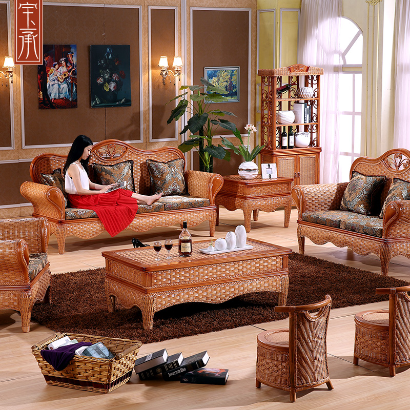 Southeast rattan sofa five sets of rattan bamboo rattan sofa rattan sofa rattan sofa rattan sofa combination living room furniture