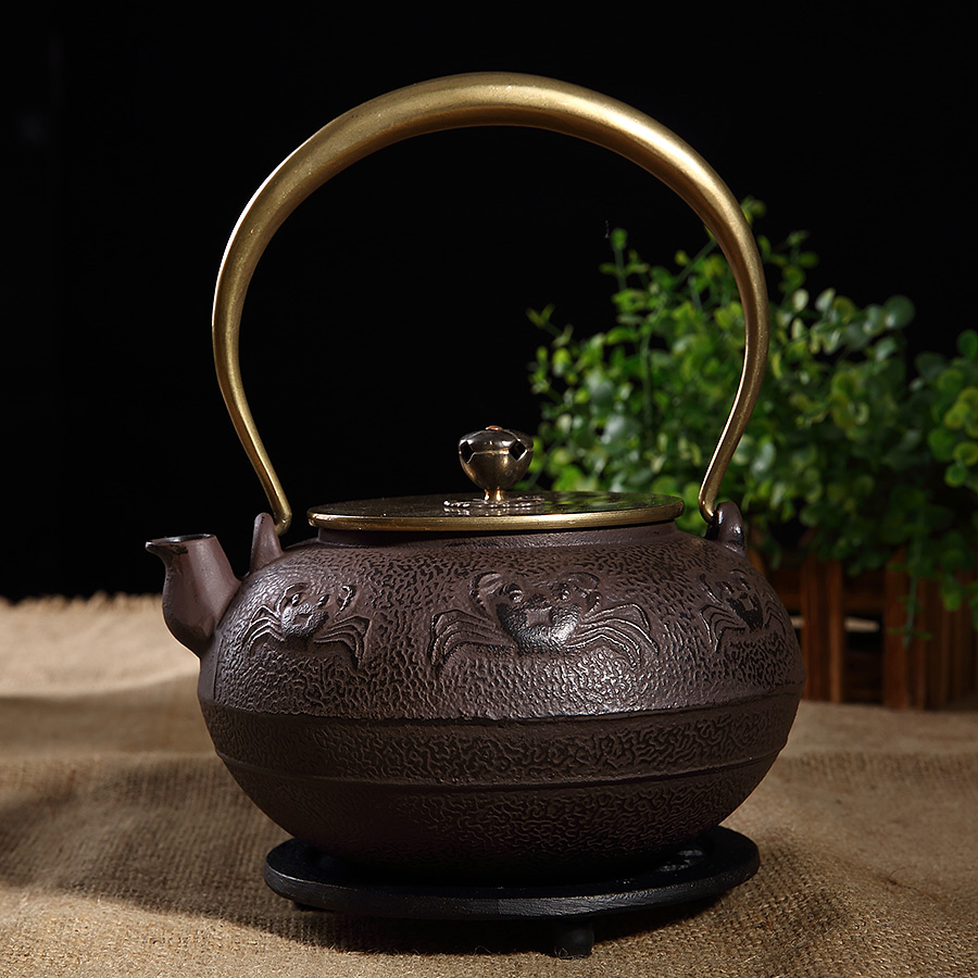 Southern cast iron pot handmade japanese iron pot iron pot uncoated iron teapot tea kettle tea