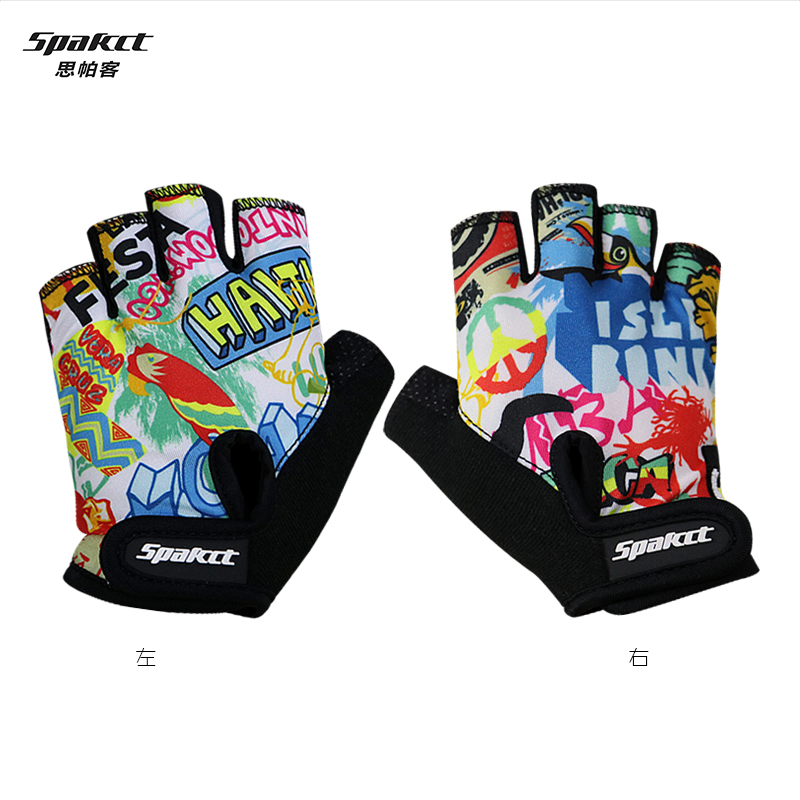 Spakct sipa off riding gloves half finger gloves for children hand sets slip skating bike mountain bike riding equipment
