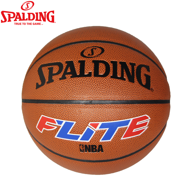Spalding basketball genuine pu leather feel 74-507y basketball outdoor basketball slip resistant cement