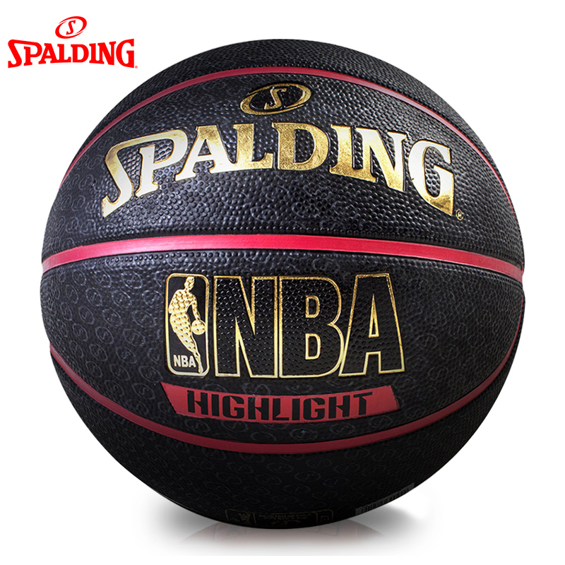 Spalding/spalding basketball genuine gold highlight series nba wearable rubber outdoor basketball on 7