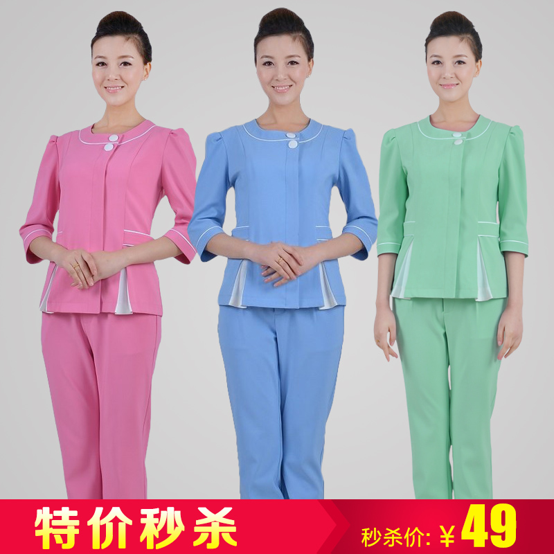 Special beautician overalls suit beautician beauty salons overalls overalls suit clothing pants spring models summer paragraph