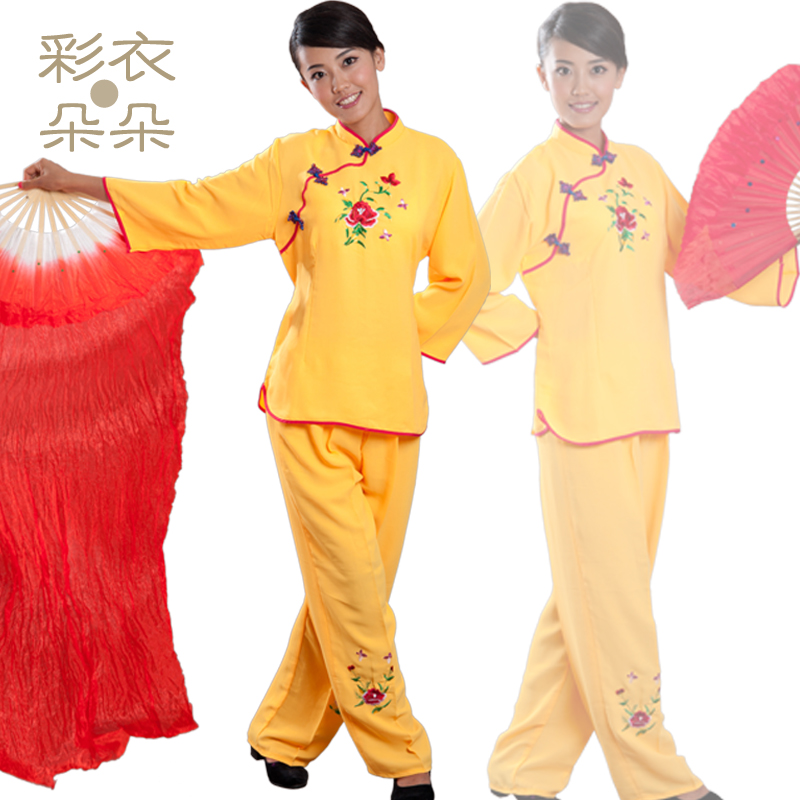 Special fan dance clothing boutique dreamcoat blossoming linen material younger clothes dance clothes square dance apparel 2006