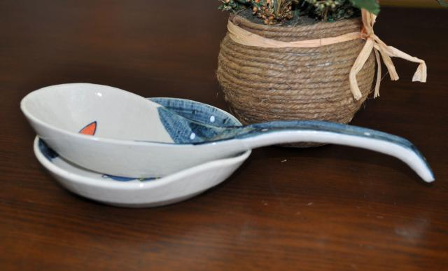 Special/japanese tableware/japan imported ceramic/guy burning japanese spoon with care