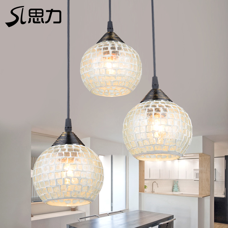 Spiriva 3 head mosaic mediterranean restaurant lights restaurant lights chandelier modern minimalist restaurant lights dining room lights 1312