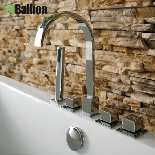 Split bathtub faucet wujiantao five cylinder edge bathtub faucet hot and cold faucet hole 17