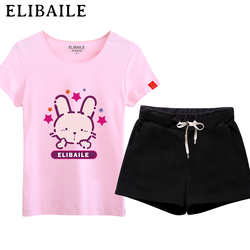Sports suit female student casual compassionate big yards short sleeve t-shirt + shorts shorts loose was thin piece new