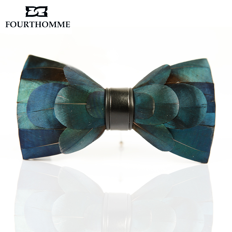 Spot shipping handmade feather bow tie korean version of the british men's formal wear for men and women ordered sina groomsmen wedding presided