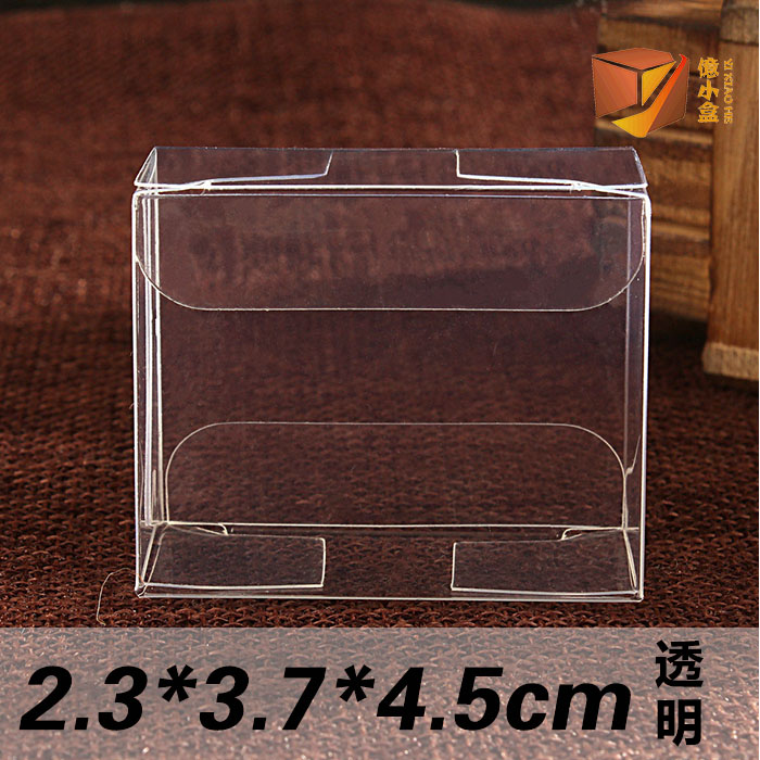 Spot transparent pvc box biscuit box gift box small gift box wedding gift box 2.3*3.7*4.5 cm